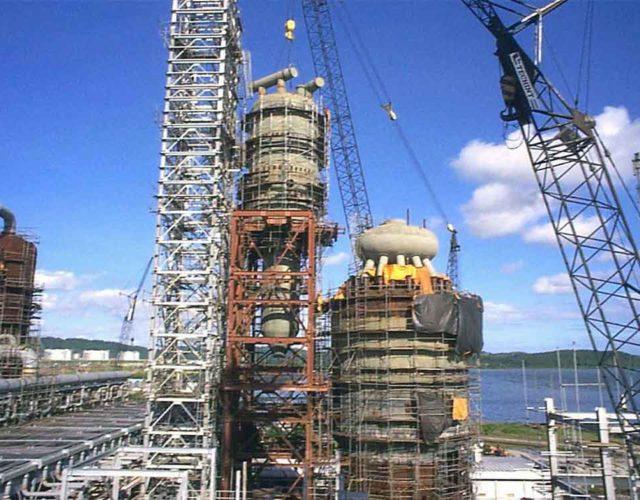 Construção Estrutura metálica  Petróleo, Papel e Celulose Estruturas Diversas - RLAM - Petrobras